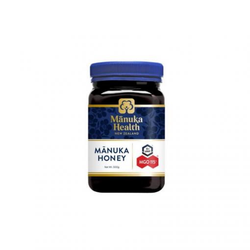 Mật ong Manuka MGO 115+ 250g - Thương hiệu Manuka Health, nhập khẩu từ New Zealand - Chỉ số kháng khuẩn MGO 115+ - Trọng lượng 250g